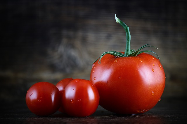 Photo of small, fresh tomatoes